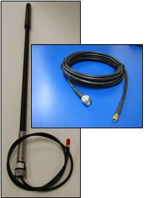 IR-ANHGWST-100/450 Antenna Kit, IRIDIUM by PIVOTEL, Helix High Gain Bull Bar Whip Antenna with cable tail, and Extension Cable Kit  total of 5.5m (18.0ft) withTNC-Male Connector