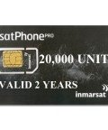 IN-01-GSPS20000E IsatPhone PRO PrePaid SIM CARD with 20,000 Unit 1 year Airtime Voucher