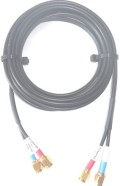 STARPAK-CABLE-95-MSS-KIT Micro Twin Cable Kit, RG174U Low Loss by Times Microwave USA, moulded 2.4m(95in) Gold SMA-Male Connectors